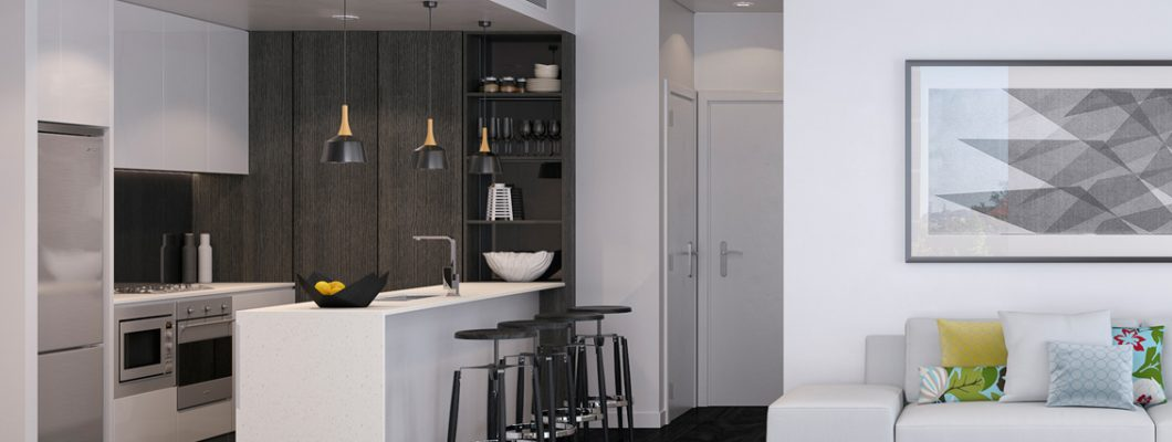 Slideshow Mason Apartments - Living Room Slate