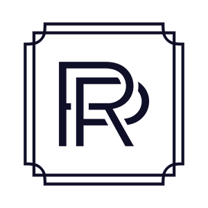 Reliance Property Logo Clear Navy Stamp