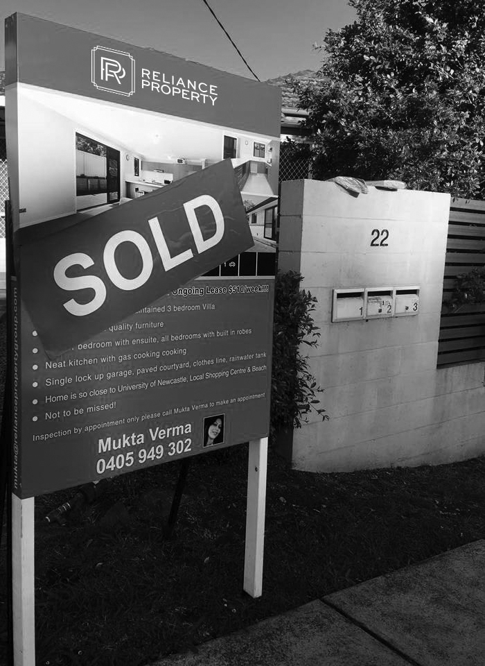 Reliance Property Sold Board
