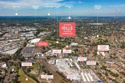 The Hills Village - James Apartments - Location