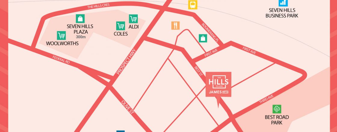 The Hills Village - James Apartments - Map