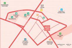 The Hills Village - James Apartments - Map