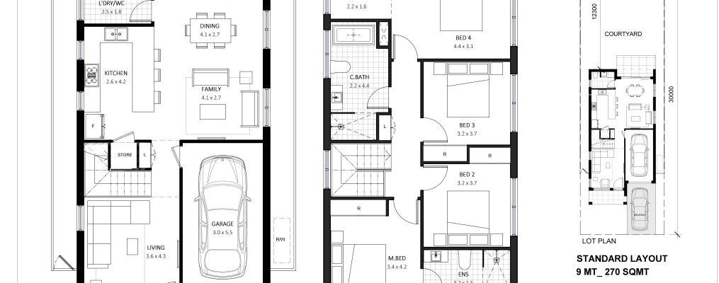 Double Storey Floor Plan