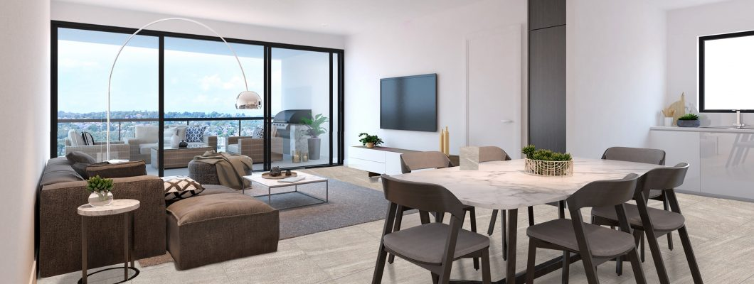 Sienna Apartments - Living and Dining Room